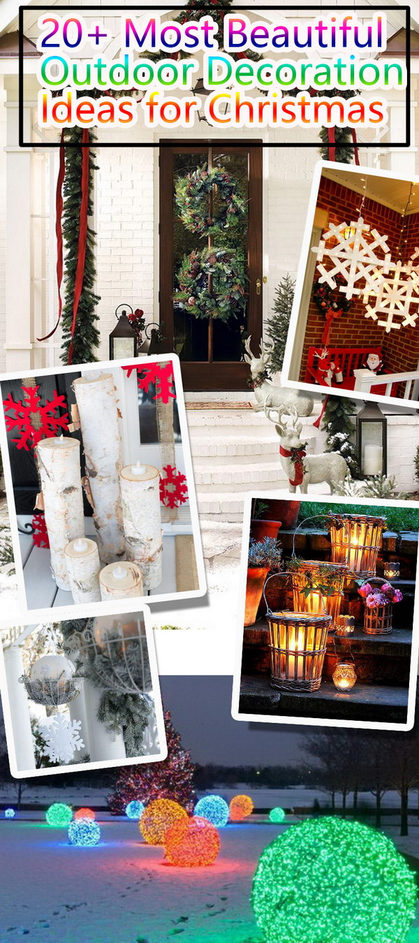 Most Beautiful Outdoor Decoration Ideas for Christmas!