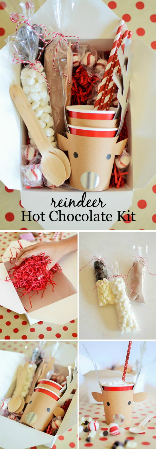 Reindeer Hot Cocoa Kit.