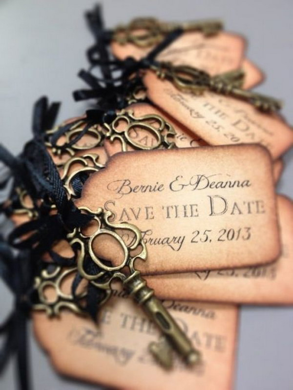 Save the Date Tags with Keys