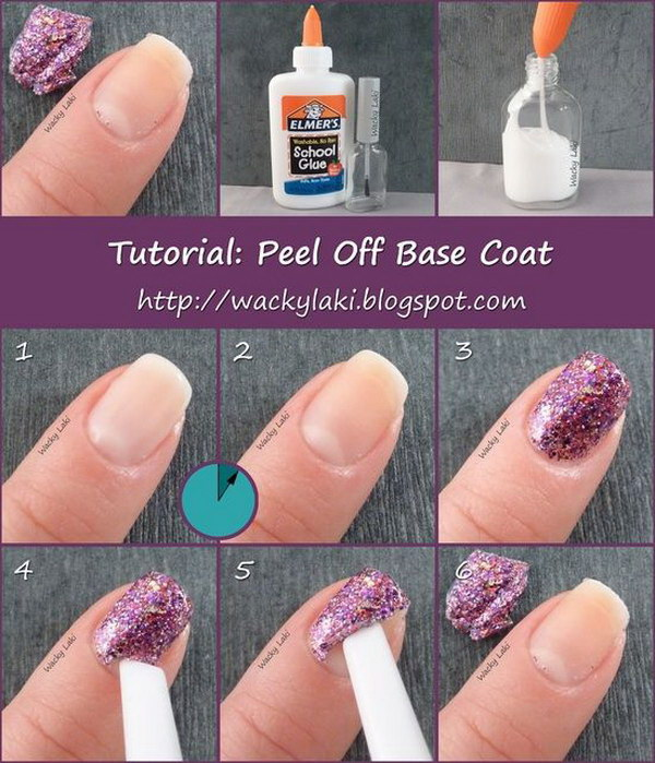 Peel Off Nail Base Coat Quickly. Glitter polish is always difficult to take off. Here I will share with you this extremely cheap, simple and effective peel of base coat.
