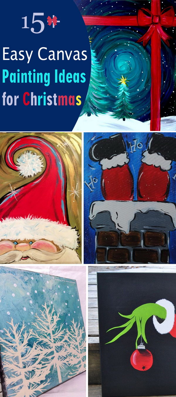 Easy Canvas Painting Ideas for Christmas!