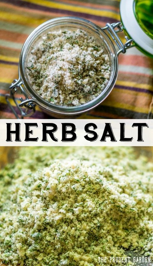 Preserve your herbs by making flavorful herb salts. This makes perfect gifts from the garden.