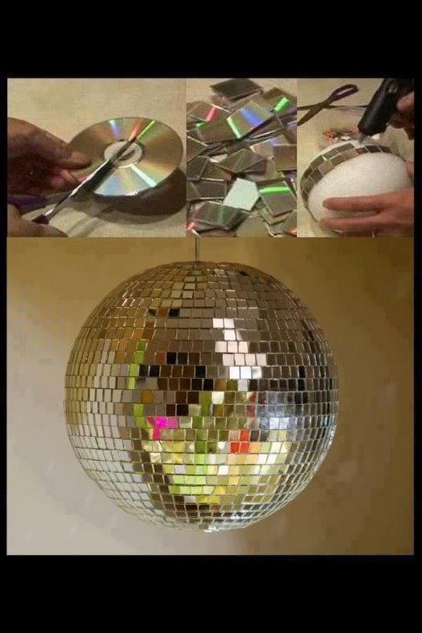 DIY Upcycled CD Disco Ball
