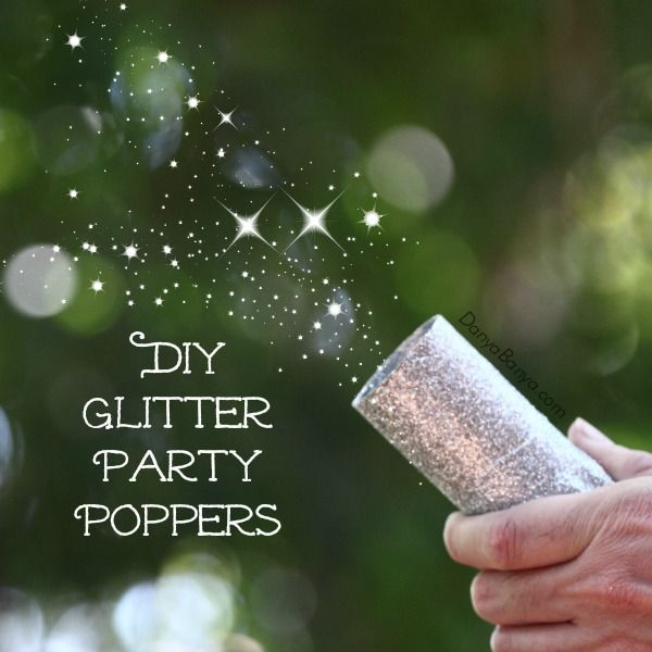 DIY Silver Glitter Party Poppers