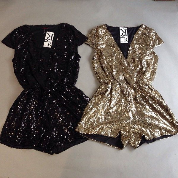 Sparkly  Sequin Rompers