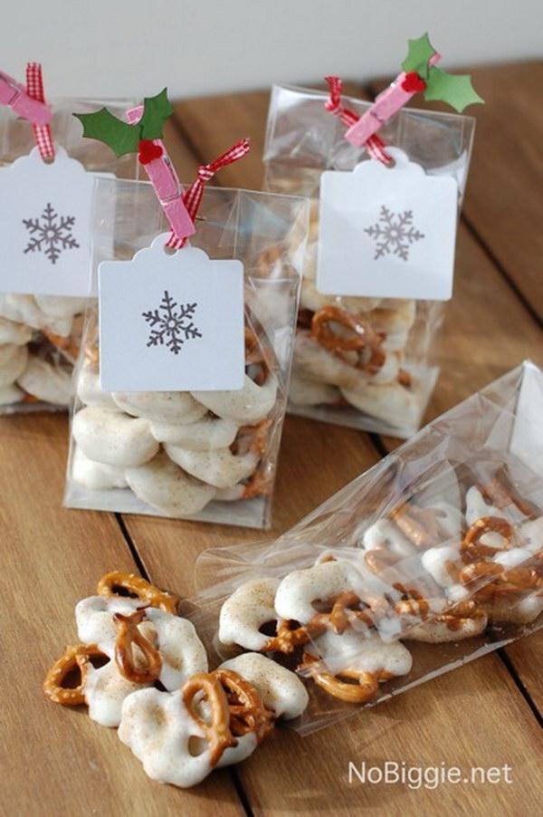 White Chocolate Caramel Pretzels.