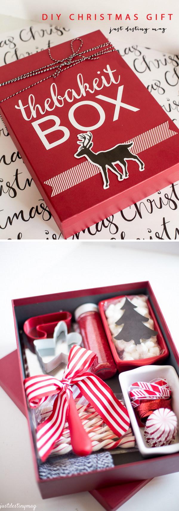 DIY Christmas Gift Box.