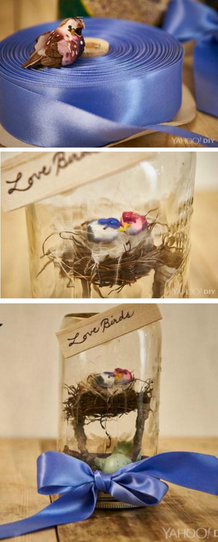 Love Birds Mason Jar Valentine's Day Gift