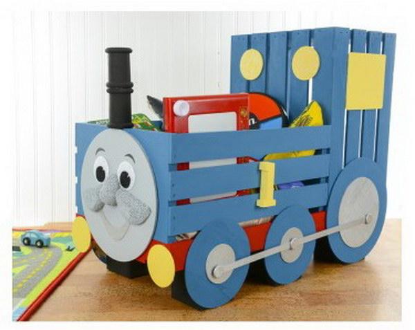 DIY Thomas The Train Storage Crate