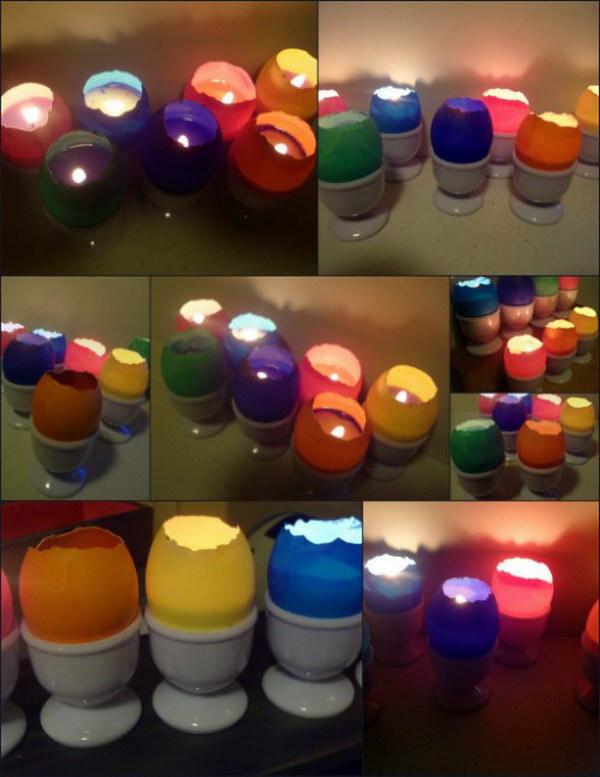 Eggshell Votive Candles.