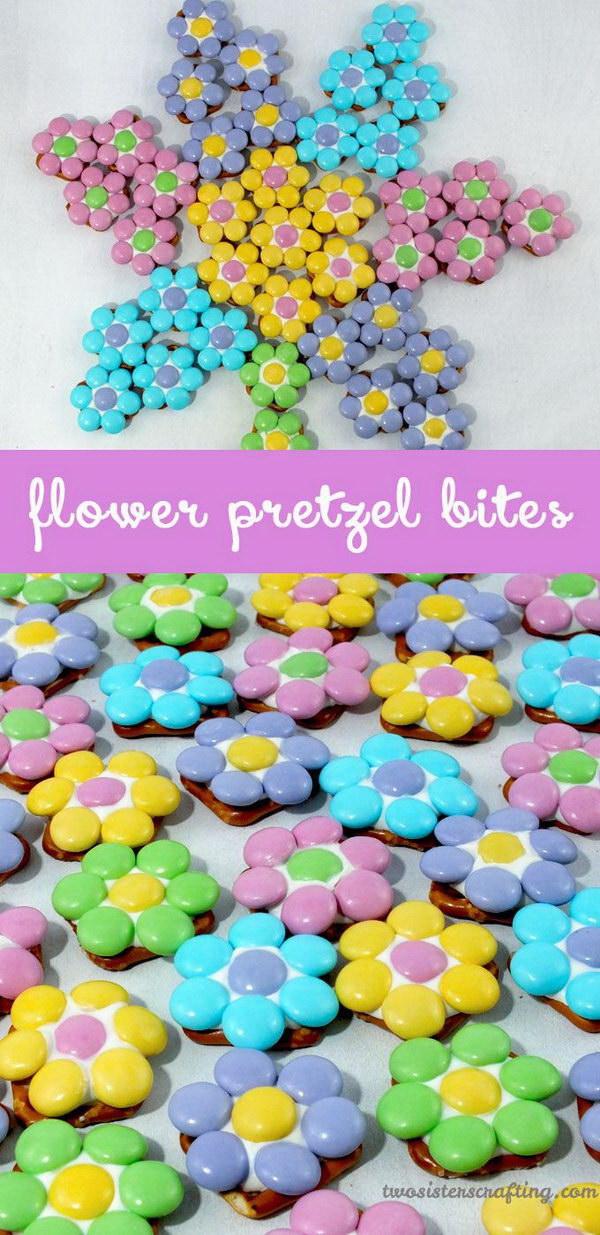 Flower Pretzel Bites.