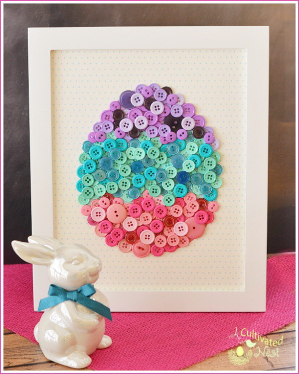 DIY Easter Egg Button Craft.