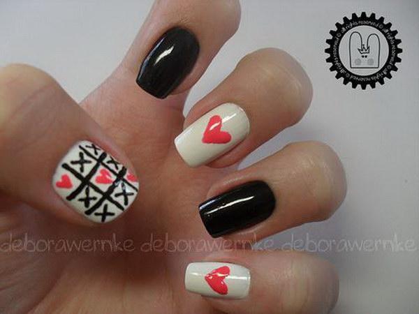 Tic Tac Toe Game and Love Nail Art