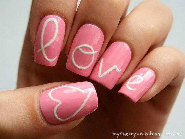 Awesome Valentine Nail Art