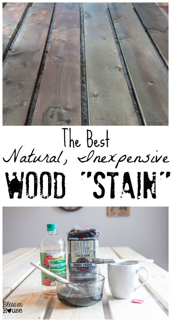 """The Most Natural, Inexpensive Way to """"Stain"""" Wood with Black Tea, Coffee and Apple Cider Vinegar."""