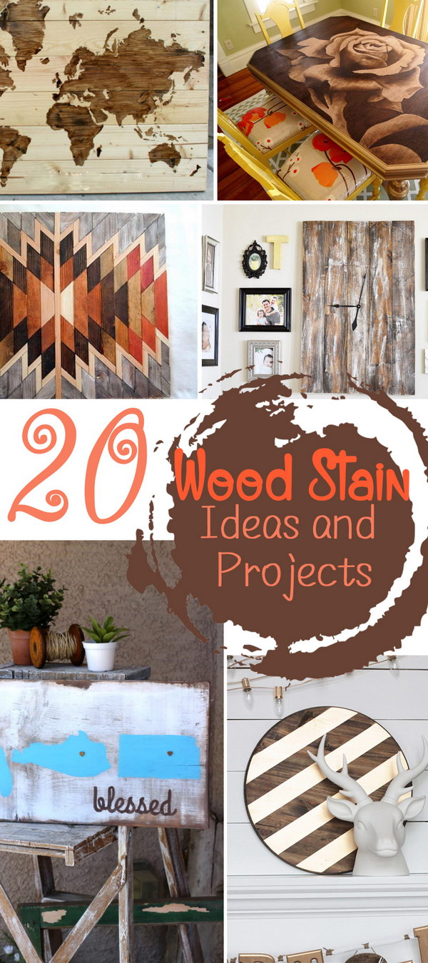 Wood Stain Ideas and Projects!