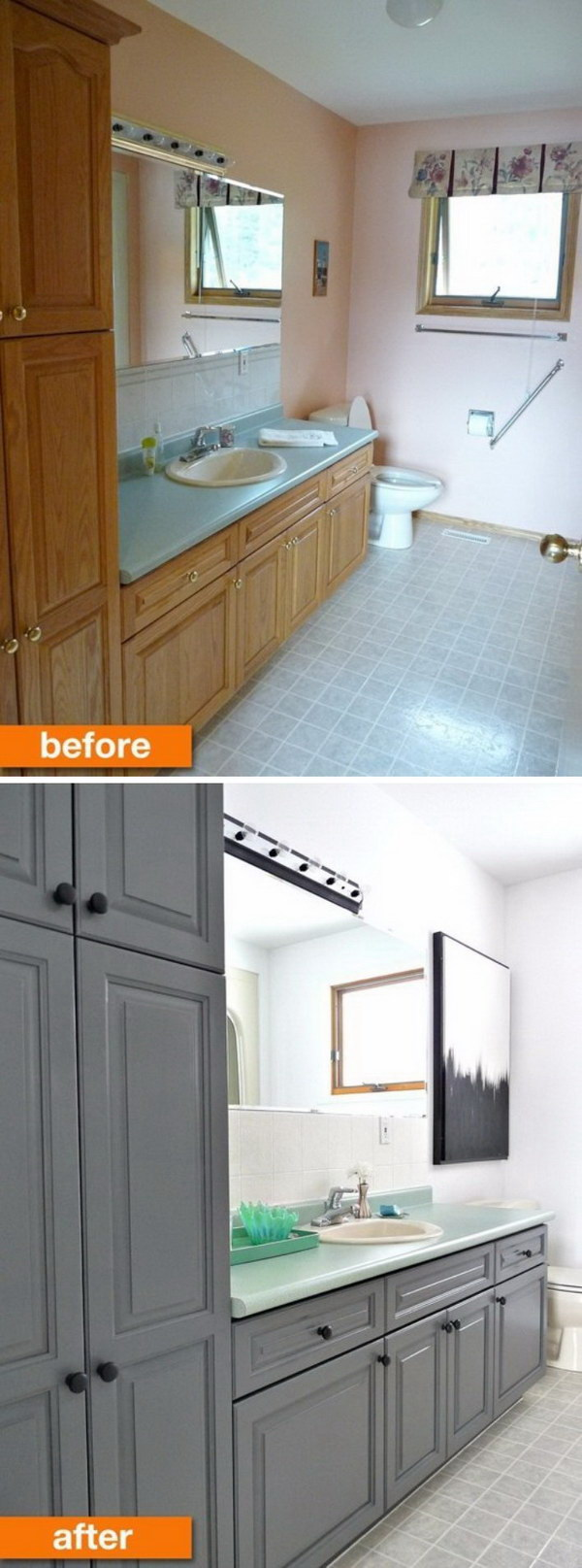 bathroom make over ideas before and after makeovers 20 most beautiful bathroom remodeling ideas noted list 9623