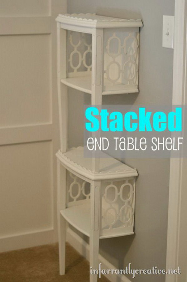 Stacked End Table Shelf.