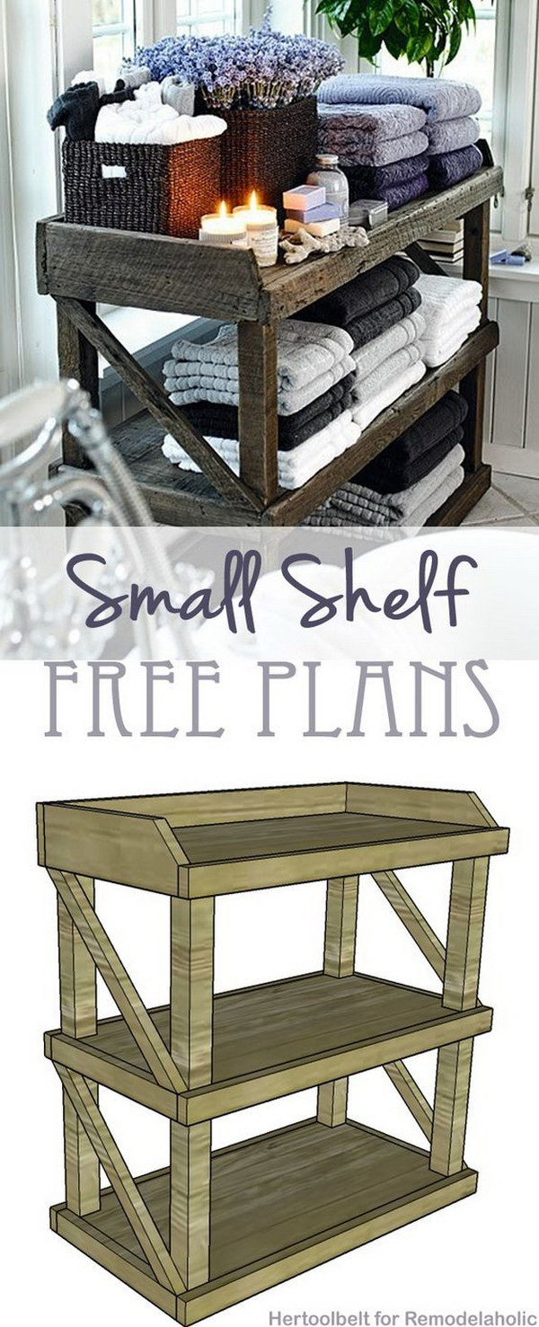 DIY Small Open Shelf.