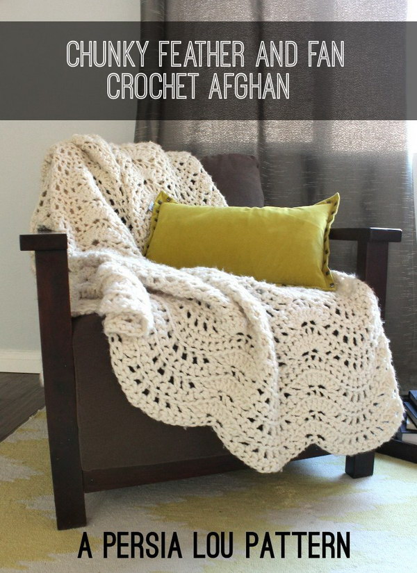 Pretty Crocheted Afghan Free Pattern.