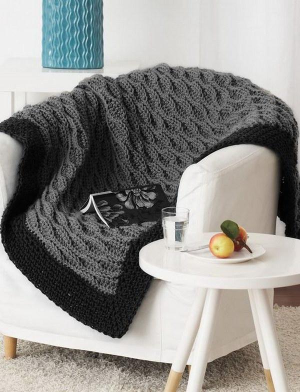 Easy Crochet Afghan Blanket Pattern.