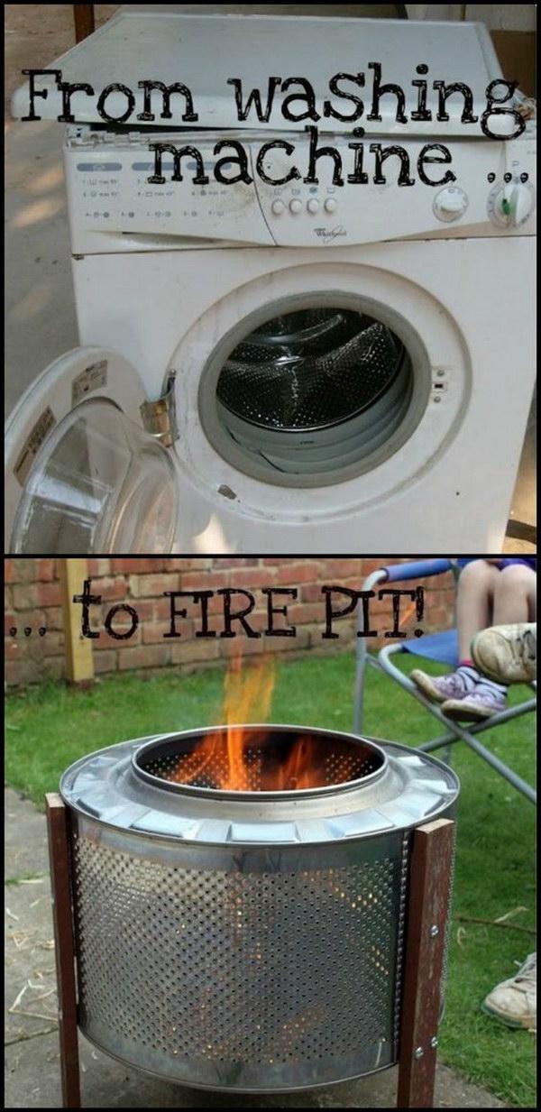 $10 DIY Washing Machine Drum Fire Pit.