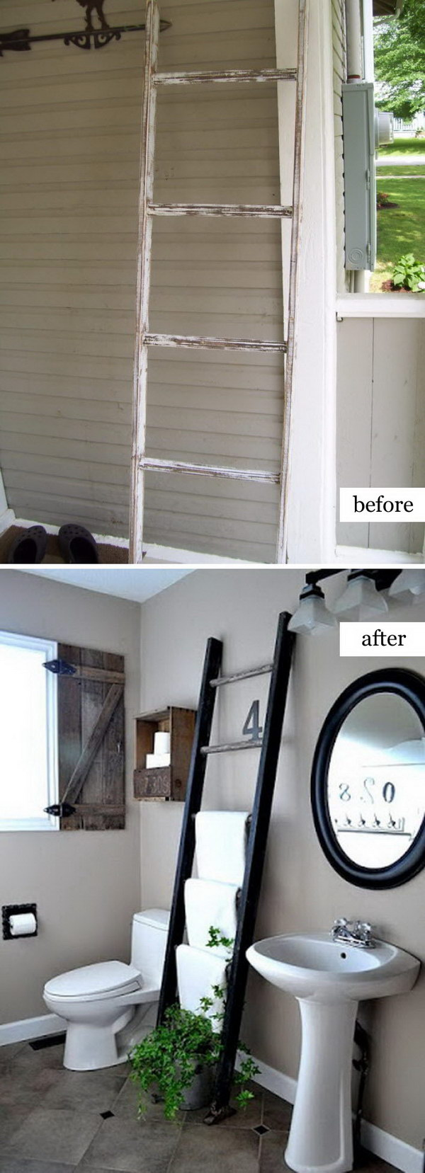 Ladder Towel Rack.