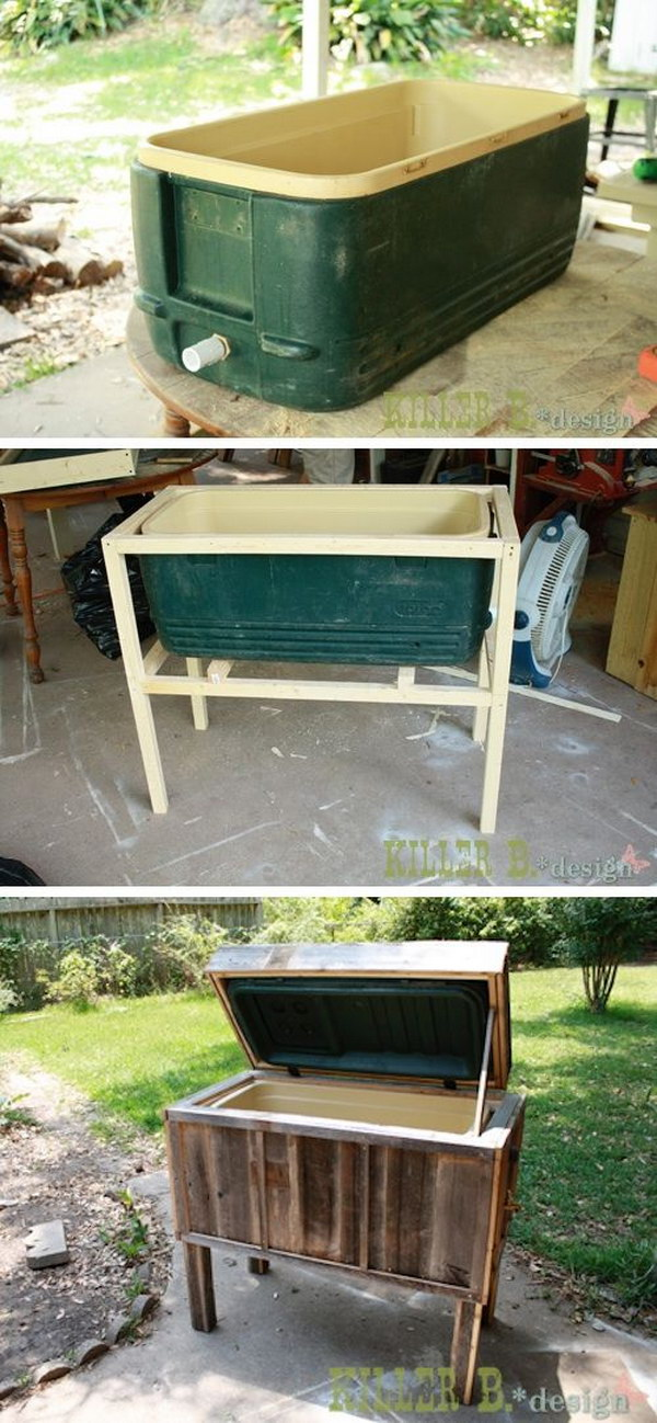 Ice Chest Makeover.