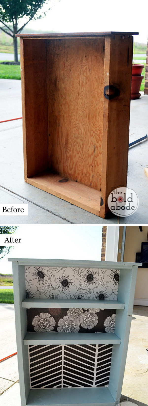 From Old Drawer To Bathroom Shelf.