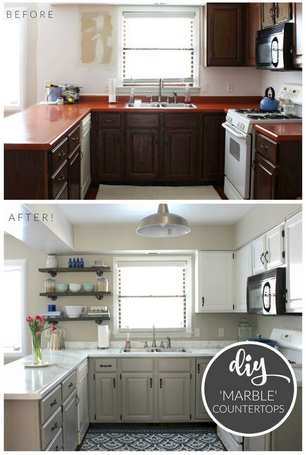 Kitchen Reveal with Giani Countertop Kit Giveaway.