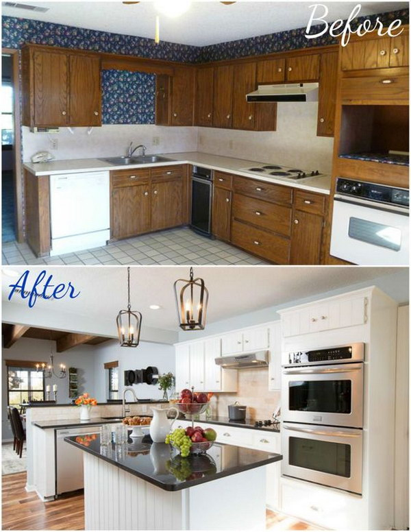 kitchen makeovers before and after pretty before and after kitchen makeovers noted list 8351