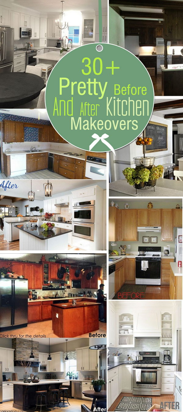 Pretty Before And After Kitchen Makeovers!