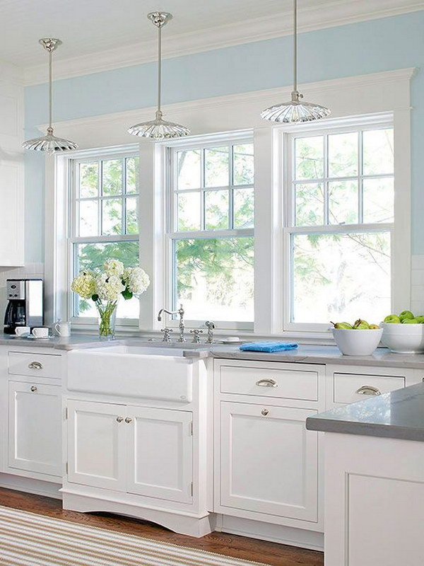 white kitchen cabinets light blue walls 80 cool kitchen cabinet paint color ideas noted list 28832