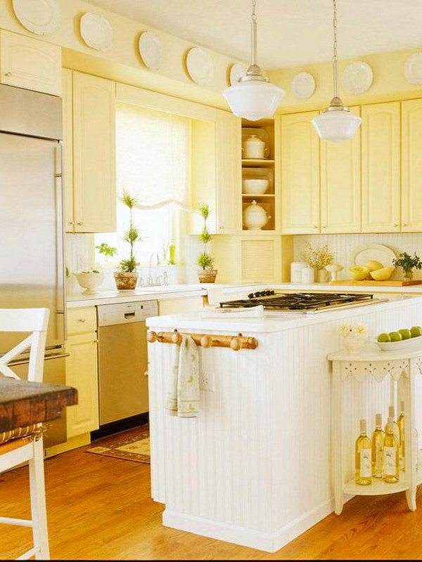 Butter Yellow Kitchen Cabinets.