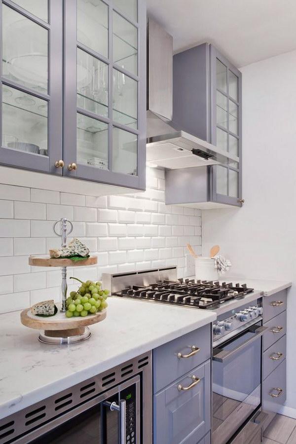 Off purple or Gray Kichen Cabinet Paint Color.