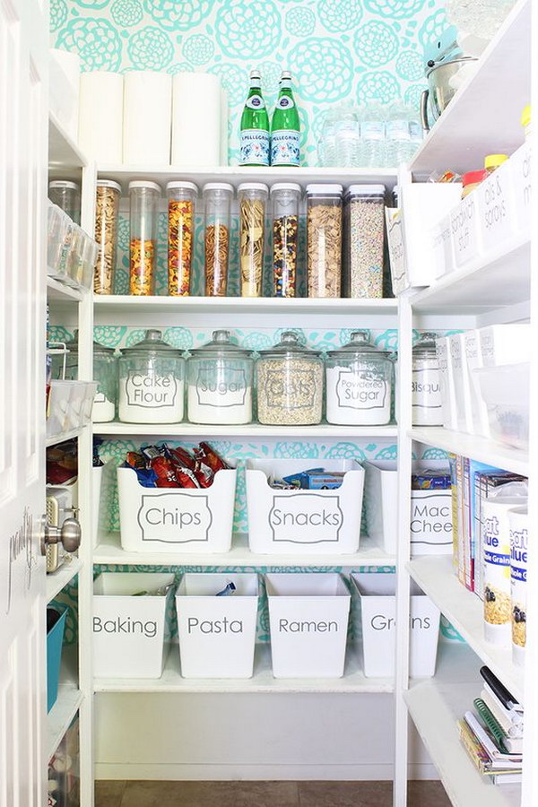 Organized and Functional Kitchen Pantry.