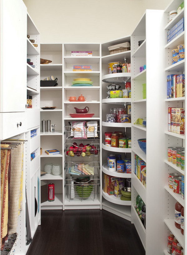 A Tall Lazy Susan in the Pantry.