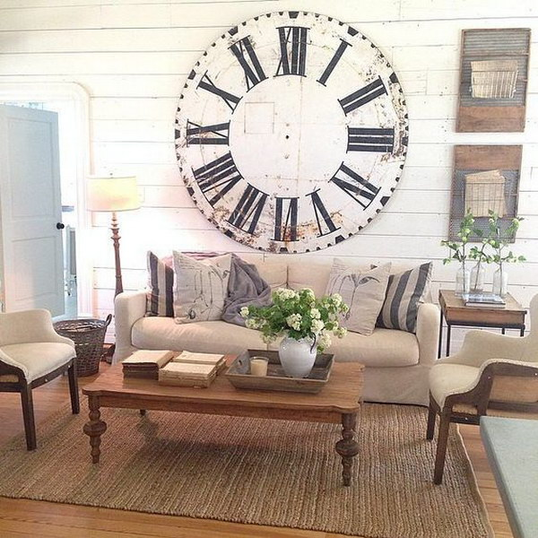 Oversize Clock Is on Your List of Decor Goals.
