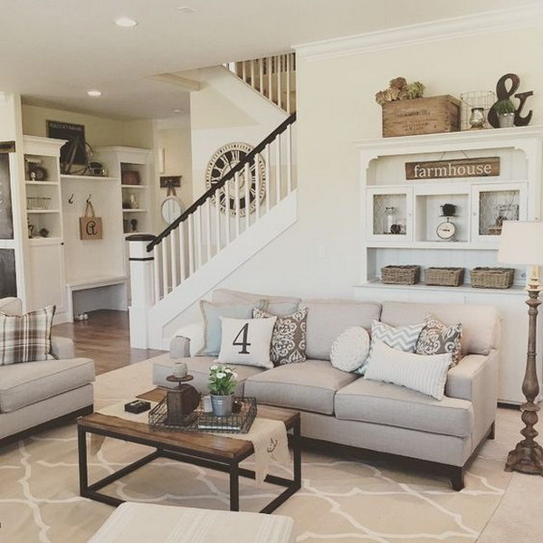 Living Room with the Farmhouse Charm.