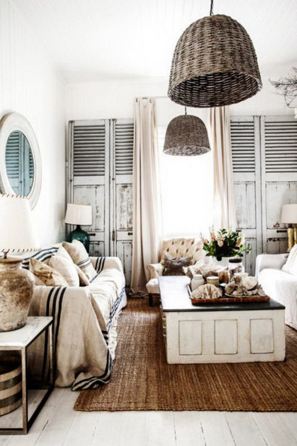 Wicker Accents Serve as a Chic Alternative to Hardwood.