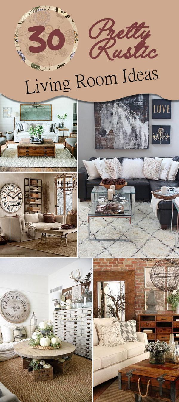 Lots of Pretty Rustic Living Room Ideas!