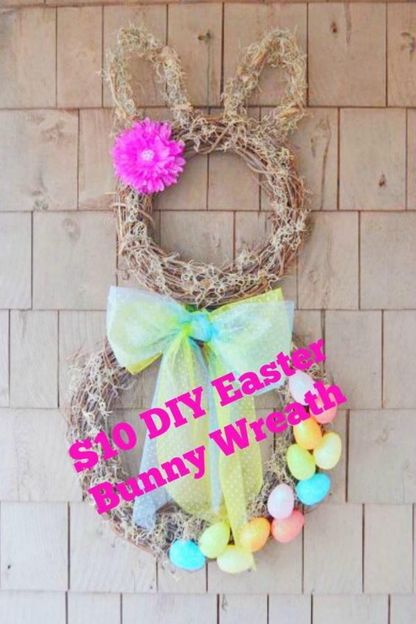 DIY Easter Bunny Wreath for $10