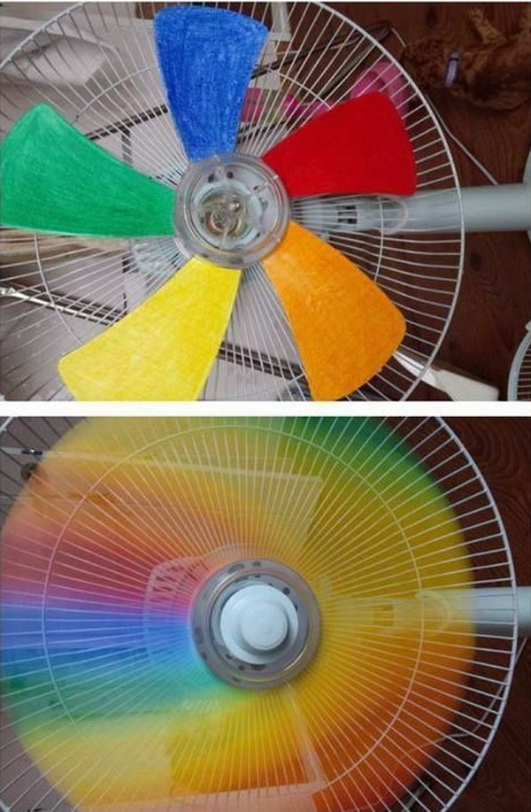 DIY Rainbow Fan