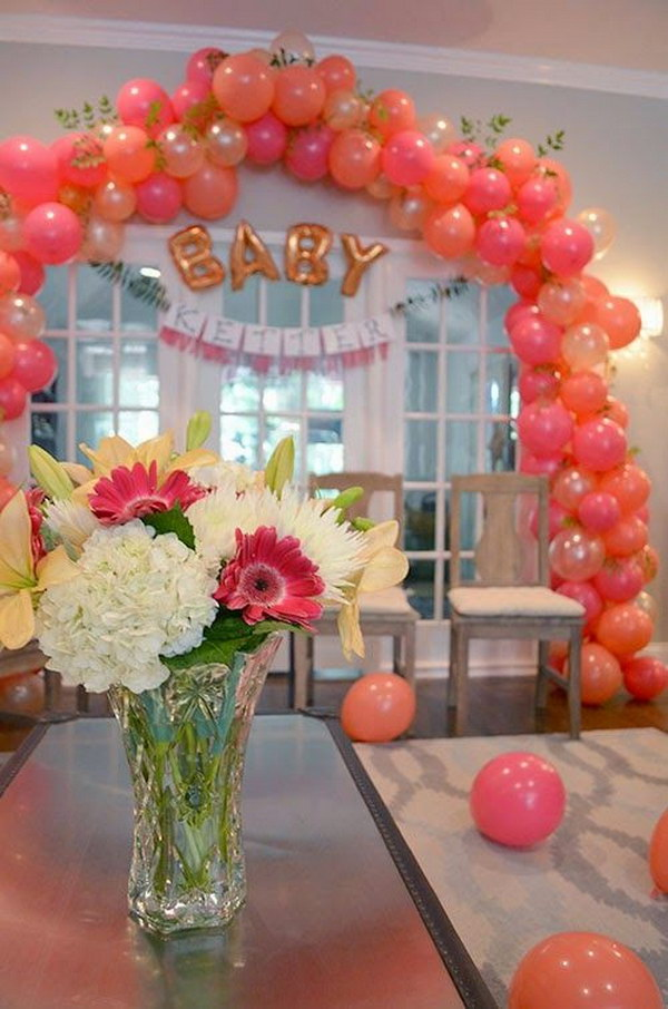 DIY Ready to Pop Baby Shower Balloon Arch.