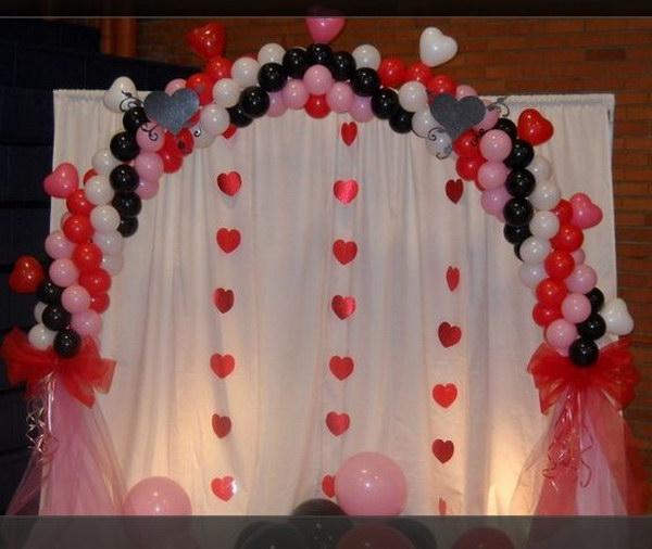 Valentines Balloon Arch.