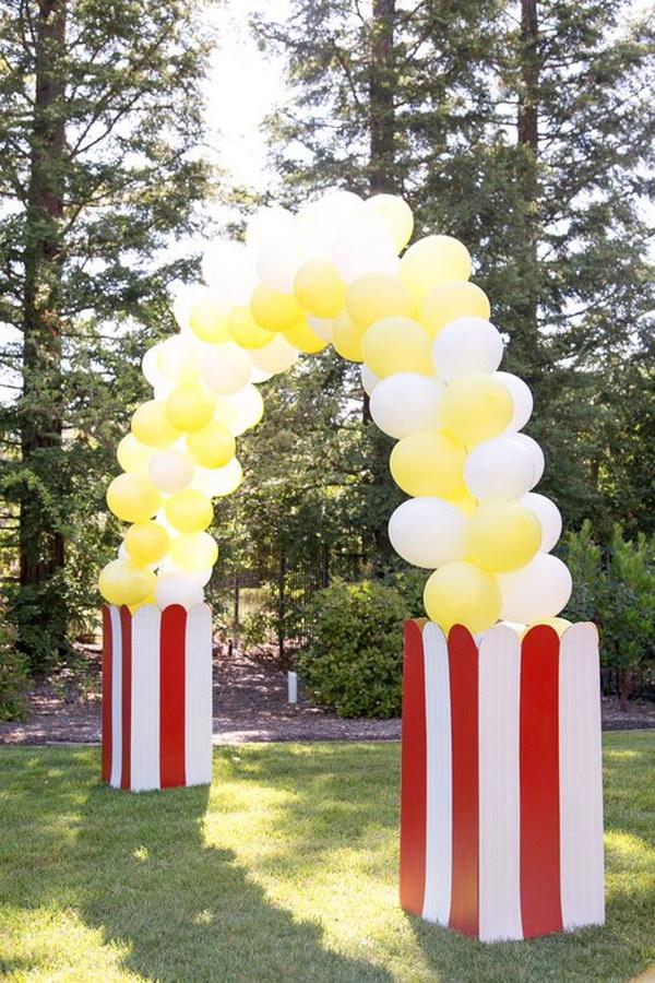 DIY Popcorn Balloon Arch.