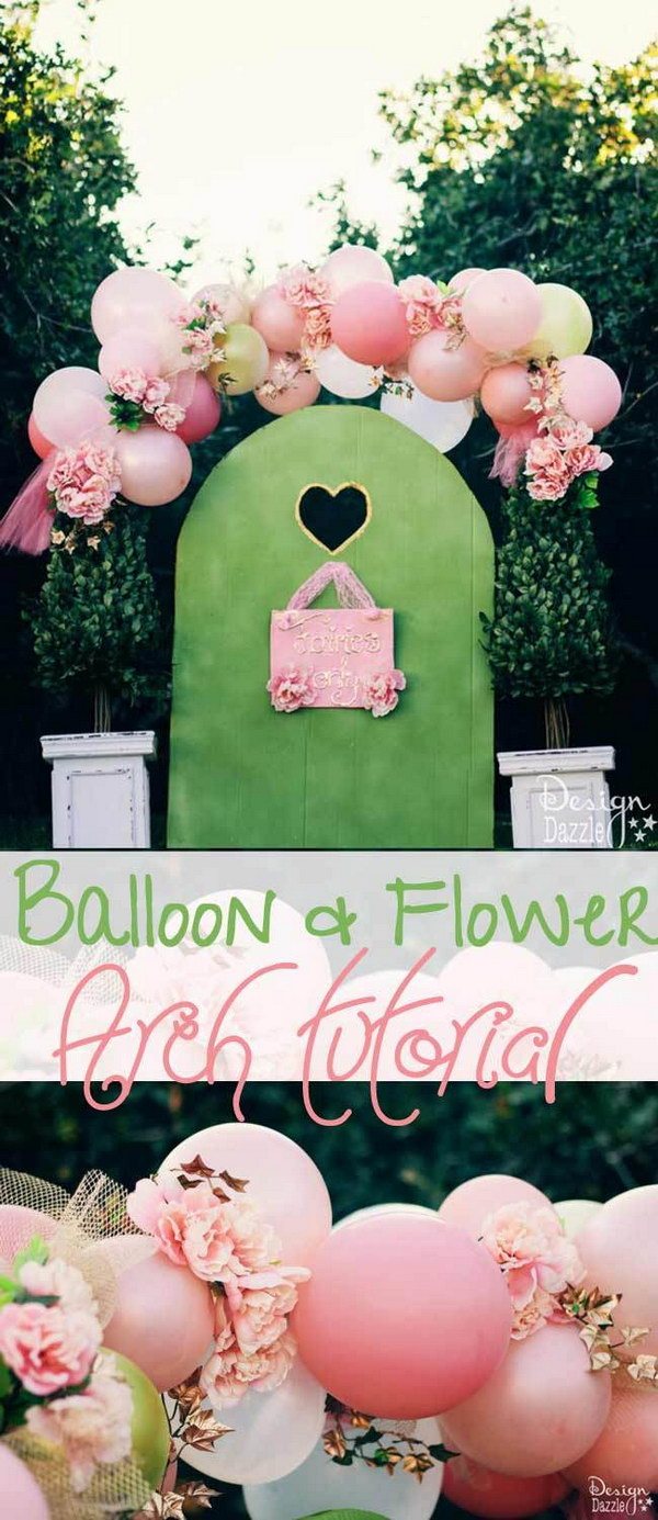 Beautiful Fairy Balloon Arch with Flowers.