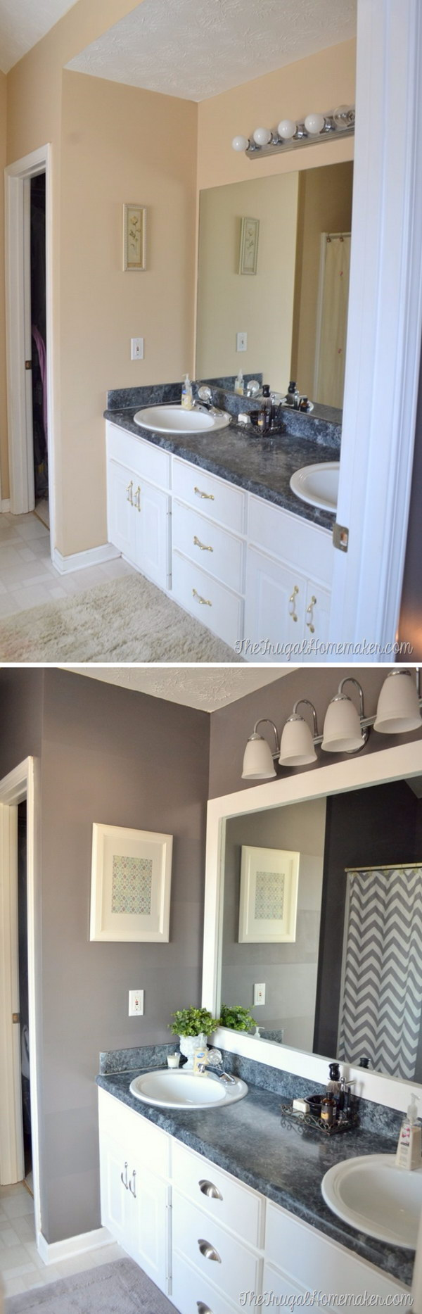 Easy Bathroom Mirror Makeover.