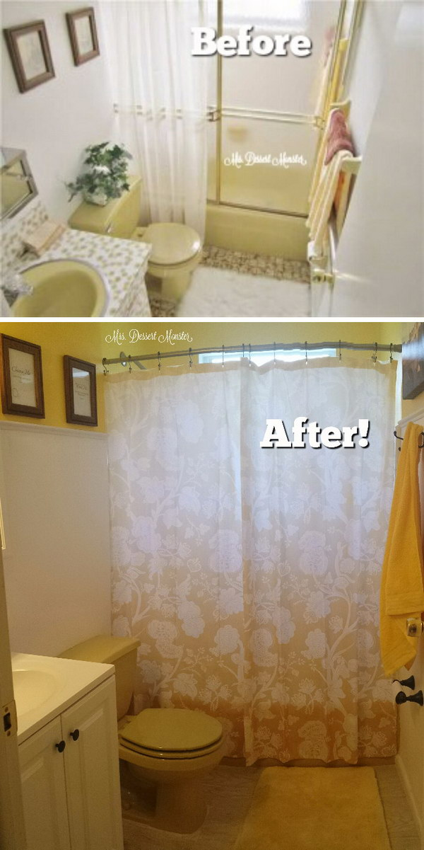 1970's Bathroom Remodel In Yellow.