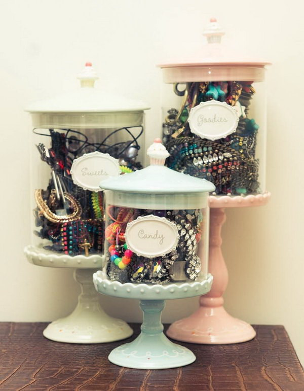 DIY Hair Ties Accessories Storage.